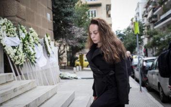Η Βίκυ Σταμάτη σε μια από τις λίγες δημόσιες εμφανίσεις της