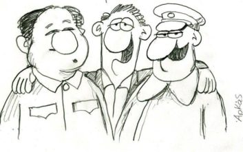 «Κόλαση» με το σκίτσο του Αρκά για τον Τσίπρα, τον Μαδούρο και τον… Στάλιν