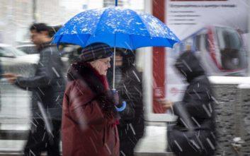 Χιονόπτωση ρεκόρ στη Μόσχα