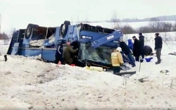 Επτά νεκροί σε τροχαίο με λεωφορείο στη Ρωσία