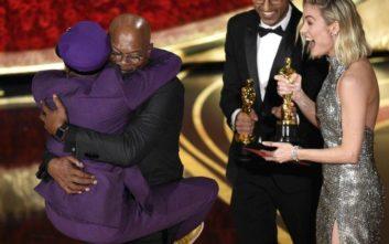 Το πικάρισμα του Σάμιουελ Τζάκσον στον Σπάικ Λι από τη σκηνή των Όσκαρ… για τη νίκη των Νιου Γιορκ Νικς