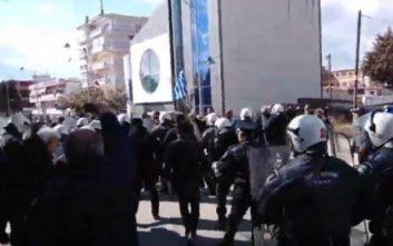 Επεισόδια με διαδηλωτές υπέρ της Μακεδονίας στην Πτολεμαΐδα