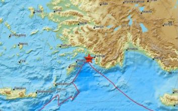 Σεισμός τώρα μεταξύ Τουρκίας και Ρόδου