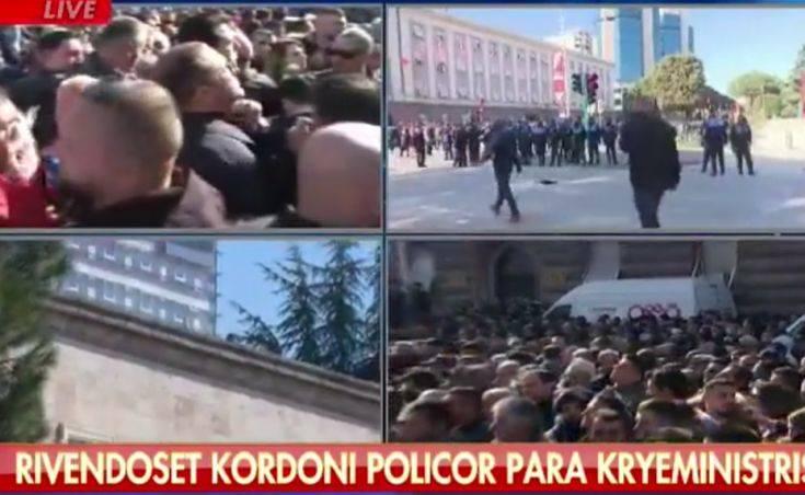 Επεισόδια στο πρωθυπουργικό μέγαρο στην Αλβανία