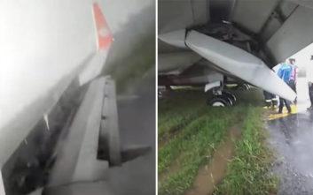Η προσγείωση του Boeing 737 πήγε όσο πιο στραβά γινόταν