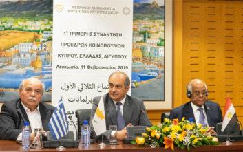 Στην Αθήνα η 2η Τριμερής των προέδρων των Κοινοβουλίων Ελλάδας, Κύπρου και Αιγύπτου