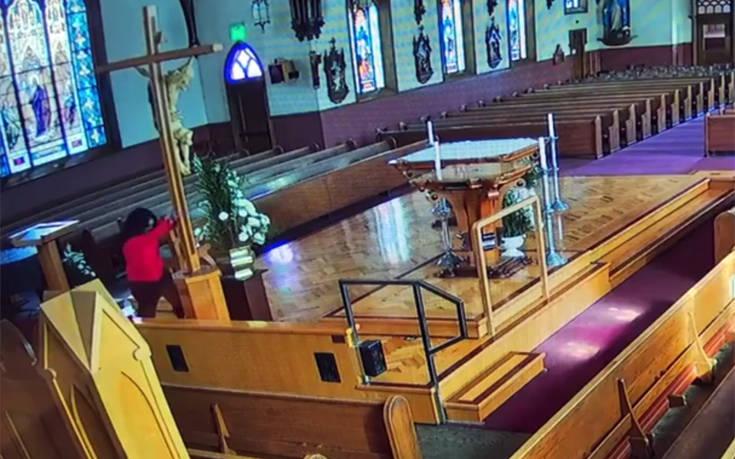 Μπήκε σε εκκλησία για να βανδαλίσει αλλά λογάριασε χωρίς τον ξενοδόχο