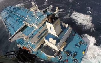 Η διάσωση Έλληνα καπετάνιου υπό αντίξοες καιρικές συνθήκες στον Ατλαντικό