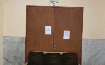 Έπεσαν σοβάδες στα δικαστήρια της Λάρισας