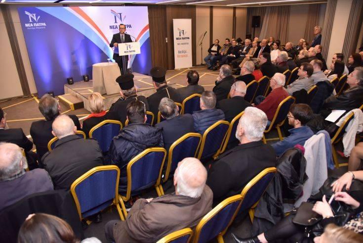 Το σχέδιό του για τη «Νέα Πάτρα» παρουσίασε ο Νίκος Νικολόπουλος