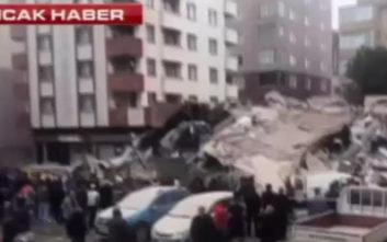 Κατέρρευσε εξαώροφο κτίριο στην Κωνσταντινούπολη, φόβοι για νεκρούς