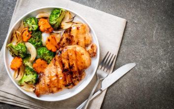 Κοτόπουλο με ψητά λαχανικά