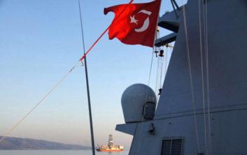Στο στενό του Καφηρέα τουρκικό γεωτρύπανο και κορβέτα