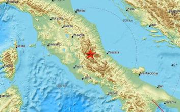 Σεισμός τώρα στην κεντρική Ιταλία