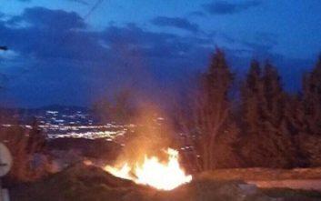 Πυρκαγιά ξέσπασε στο δάσος του Σέιχ Σου