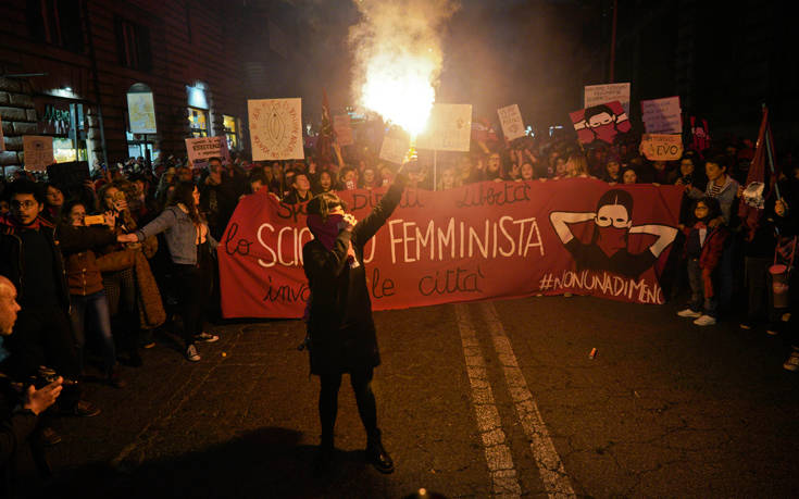 Ογκώδεις διαδηλώσεις στην Ευρώπη για τα δικαιώματα των γυναικών
