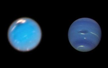 Το Hubble κατέγραψε τη γέννηση μιας μεγάλης σκοτεινής κηλίδας στον Ποσειδώνα