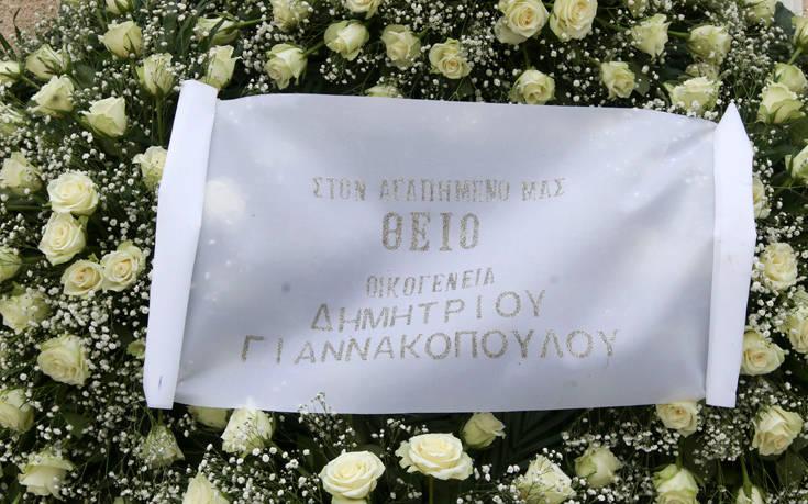 Με τη σημαία του Παναθηναϊκού το φέρετρο του Θανάση Γιαννακόπουλου