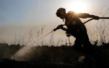 Μεγάλη μάχη με τη φωτιά δίνει η Πυροσβεστική στο Άγιον Όρος
