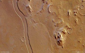 Στον Άρη κυλούσαν ποτάμια διπλάσια σε πλάτος από αυτά της Γης