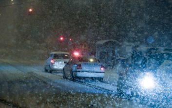 Χιονίζει σε ορεινές περιοχές της Λάρισας