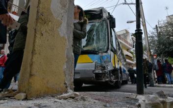 Έντεκα επιβάτες τραυματίστηκαν στη σύγκρουση λεωφορείων στο Αιγάλεω