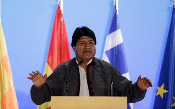 Μοράλες: Στη Βολιβία μας έκλεβαν τα δημόσια αγαθά μας και ξεσηκωθήκαμε