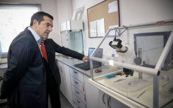 Τσίπρας από τον «Δημόκριτο»: Ο ΣΥΡΙΖΑ αύξησε τα κονδύλια για την έρευνα