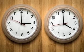 Αλλάζει η ώρα, πότε γυρνάμε τα ρολόγια μας μια ώρα μπροστά