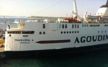 Κλίση, λόγω εισροής υδάτων, στο παροπλισμένο πλοίο «Πηνελόπη Α»