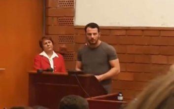 Ο Ντάνος μίλησε στο Πάντειο Πανεπιστήμιο και έγινε... το αδιαχώρητο