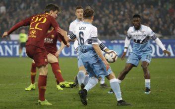 H Λάτσιο φιλοδώρησε με 3 γκολ τη Ρόμα και μπήκε στο κόλπο του Champions League