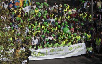 Μεγάλη διαδήλωση στη Μαδρίτη κατά των αμβλώσεων