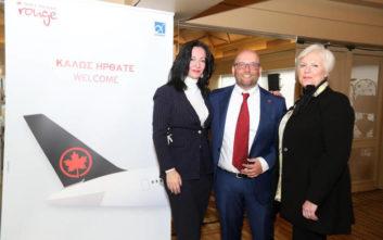 Η Air Canada επεκτείνει την παρουσία της στην Αθήνα