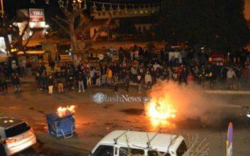 Επεισόδια στο κέντρο των Χανίων από «καρναβαλιστές» που έβαλαν φωτιές