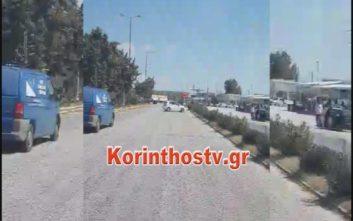 Οδηγός μπήκε ανάποδα στην Αθηνών- Κορίνθου