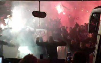 Οπαδοί του ΠΑΟΚ μετέτρεψαν σε Τούμπα την Εθνική Οδό