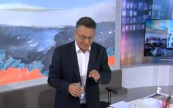Η αντίδραση του Αρβανίτη όταν ανακοινώθηκε on air η υποψηφιότητά του στις ευρωεκλογές