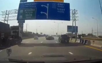 Σκηνή από «Fast And Furious» θύμισε η κόντρα στον αυτοκινητόδρομο