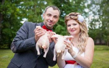 Ασυνήθιστες φωτογραφίες γάμων