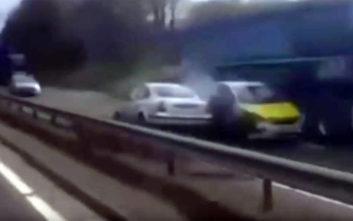 Οδηγούσε ανάποδα σε αυτοκινητόδρομο στη Σκωτία και προκάλεσε χάος