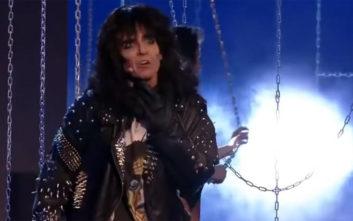 Η Κατερίνα Στικούδη ως Alice Cooper κέρδισε στο Your Face Sounds Familiar της Κυριακής