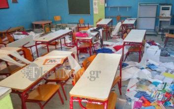 Βάνδαλοι κατέστρεψαν αίθουσες σχολείου σε κωμόπολη των Χανίων