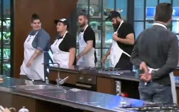 Στο MasterChef μαγείρεψαν σε ζευγάρια και έγινε χαμός