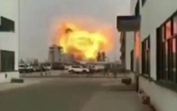 Βίντεο από ισχυρή έκρηξη σε χημικό εργοστάσιο στην Κίνα