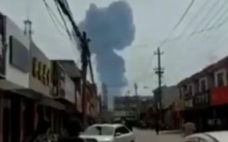 Καταγράφηκε σεισμός λίγο πριν την ισχυρή έκρηξη στην Κίνα
