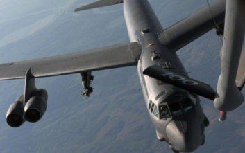 Στρατηγικά βομβαρδιστικά Β-52 πέταξαν πάνω από την Ελλάδα