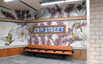 Το μετρό του Μανχάταν γέμισε λουλούδια