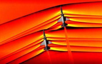 Η στιγμή που υπερηχητικά αεροσκάφη σπάνε το φράγμα του ήχου