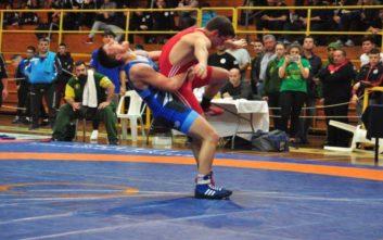 Τριπλή ισοβαθμία στο βάθρο στο Πανελλήνιο Πρωτάθλημα Πάλης Παίδων